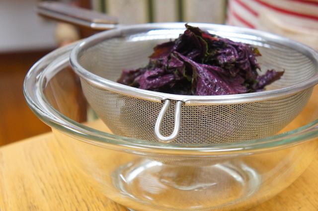 梅干し作り|赤紫蘇の処理|画像7