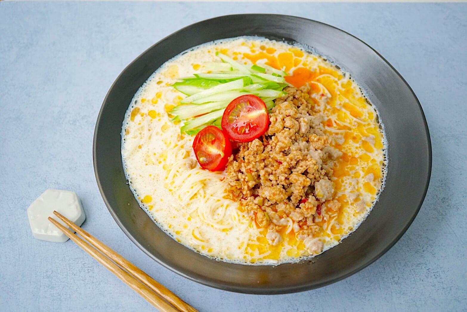 レシピ|うまみたっぷりのスープがやみつき!ピリ辛豆乳坦々素麺
